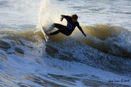 Pro surfer matt capel going off the lip